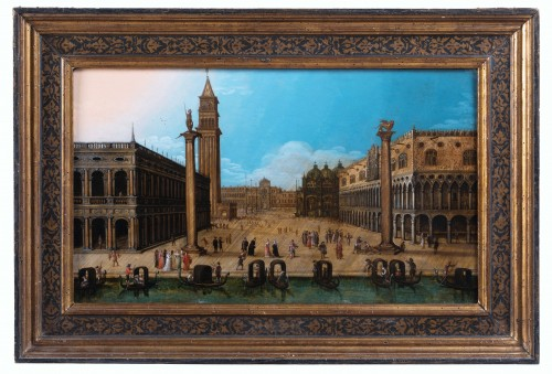 View of piazza San Marco, Venise, attributed to Louis de Caullery - Paintings & Drawings Style Louis XIII