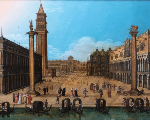 Paintings & Drawings  - View of piazza San Marco, Venise, attributed to Louis de Caullery
