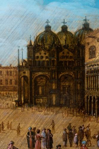 Antiquités - View of piazza San Marco, Venise, attributed to Louis de Caullery