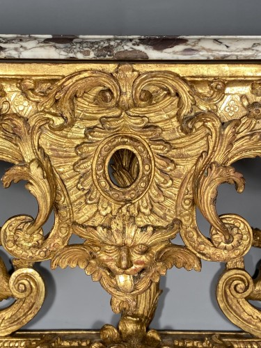 Console in gilded wood with hydra, Paris Louis XIV period -