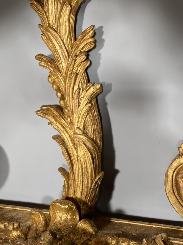 Console in gilded wood with hydra, Paris Louis XIV period - Louis XIV