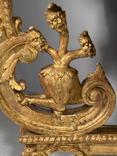 Louis XIV - Console in gilded wood with hydra, Paris Louis XIV period