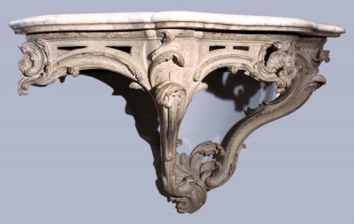 18 th console stamped Lalbertaut, Paris circa 1750 -
