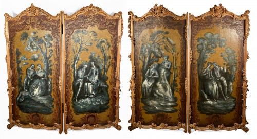Pair of screens of the Duke of Choiseul, Paris circa1760