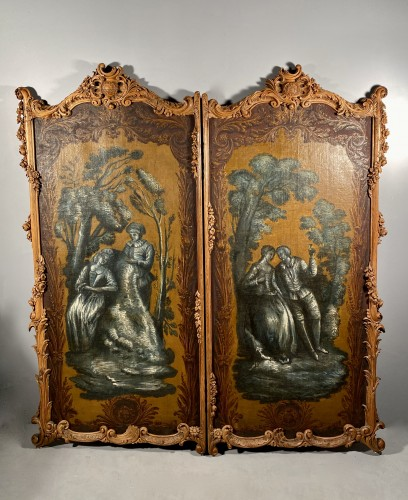 Pair of screens of the Duke of Choiseul, Paris circa1760 -