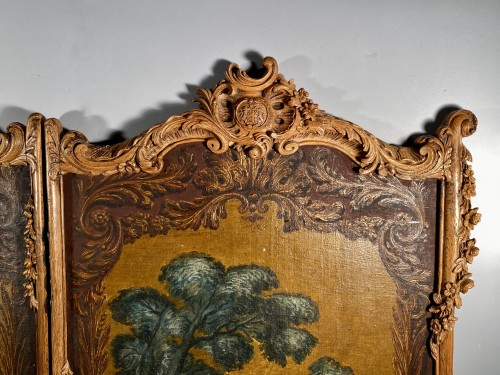 18th century - Pair of screens of the Duke of Choiseul, Paris circa1760