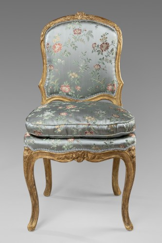 A Louis XV pair of giltwood chairs - Seating Style Louis XV