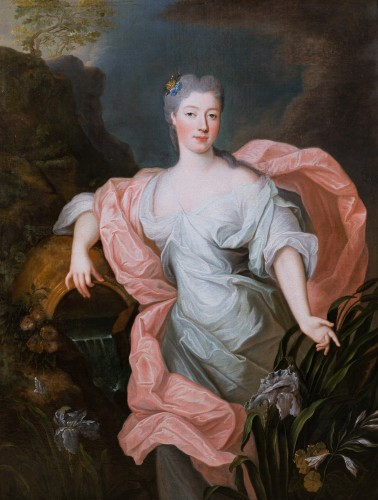 Portrait of Princess of Lorraine, Pierre Gobert and workshop, circa 1730 - Paintings & Drawings Style Louis XV