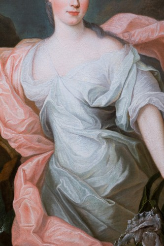 Antiquités - Portrait of Princess of Lorraine, Pierre Gobert and workshop, circa 1730