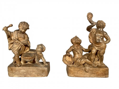 Project of terracotta andirons for child musicians, Paris around 1770