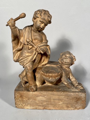 Project of terracotta andirons for child musicians, Paris around 1770 -