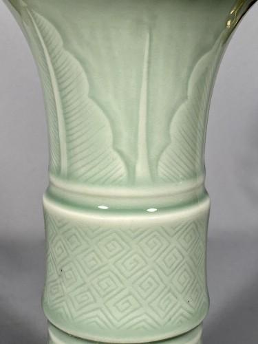 Decorative Objects  - Celadon porcelain vase mounted , Paris circa 1750