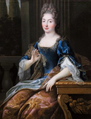 Portrait of Marie-Anne de Bourbon, attributed to François de Troy - Paintings & Drawings Style Louis XIV