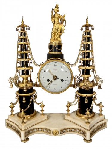 18th Chinese double pagodas clock, Paris, Louis XVI