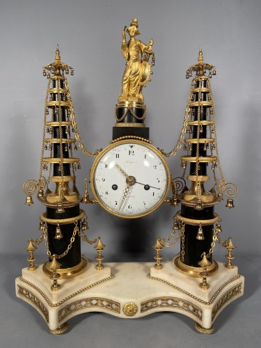 18th Chinese double pagodas clock, Paris, Louis XVI - Louis XVI