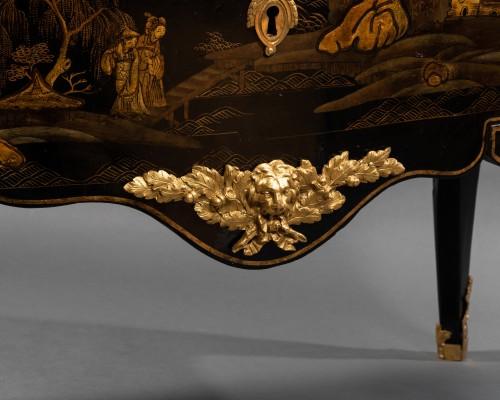 Furniture  - 18th European lacquer commode, P. Roussel,Paris circa 1765