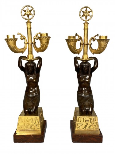Pair of candelabra for Louis Bonaparte in St Leu circa 1804