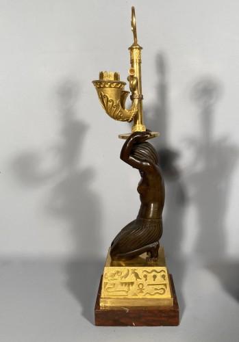 19th century - Pair of candelabra for Louis Bonaparte in St Leu circa 1804