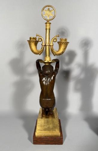 Pair of candelabra for Louis Bonaparte in St Leu circa 1804 - Empire