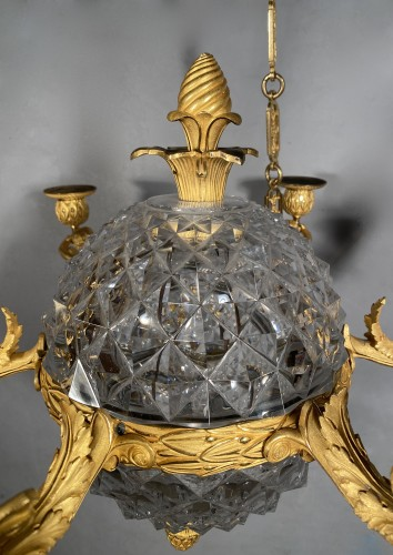 Empire - An Empire c. 1810 bronze and crystal chandelier attributed to Ravrio, Paris