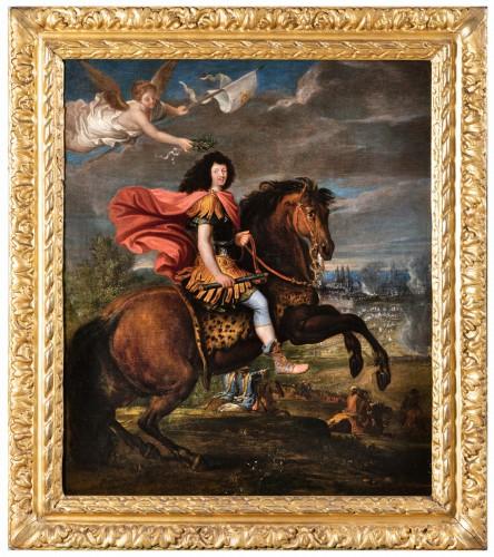 Equestrian portrait of Louis XIV, Pierre Mignard and his workshop