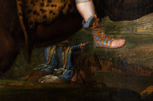 Paintings & Drawings  - Equestrian portrait of Louis XIV, Pierre Mignard and his workshop
