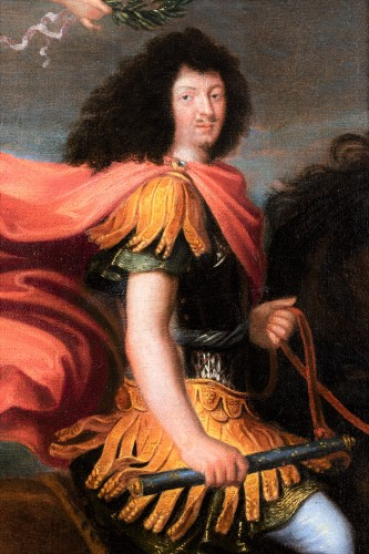 17th century - Equestrian portrait of Louis XIV, Pierre Mignard and his workshop