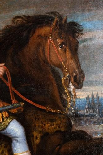 Antiquités - Equestrian portrait of Louis XIV, Pierre Mignard and his workshop