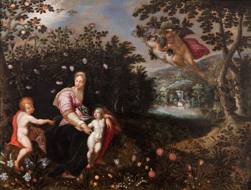 Virgin with child attributed to Jan Brueghel the Elder & Jacob de Backer