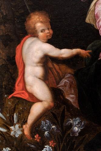Virgin with child attributed to Jan Brueghel the Elder & Jacob de Backer -