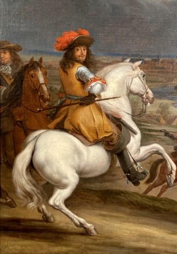 Louis XIV in front of Kortrijk,  Van der Meulen studio circa 1667 - Paintings & Drawings Style Louis XIV
