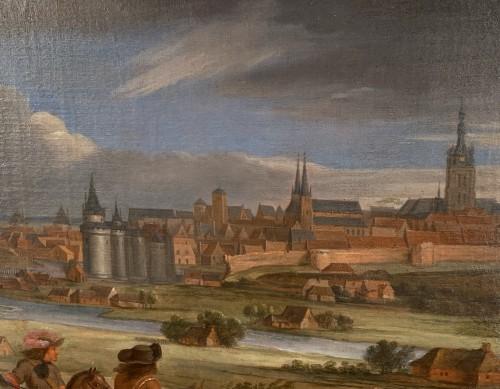 Paintings & Drawings  - Louis XIV in front of Kortrijk,  Van der Meulen studio circa 1667