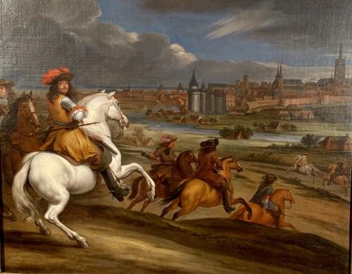 Louis XIV in front of Kortrijk,  Van der Meulen studio circa 1667 -