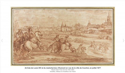 Antiquités - Louis XIV in front of Kortrijk,  Van der Meulen studio circa 1667