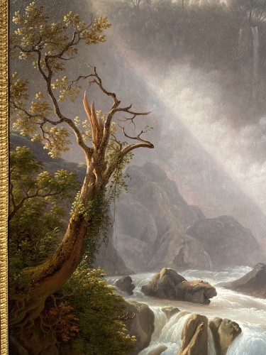 Paintings & Drawings  - The Marmores waterfall, Martin Verstappen circa 1810