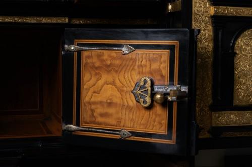 Renaissance - A 16th c. Nuremberg important ebony and brass cabinet