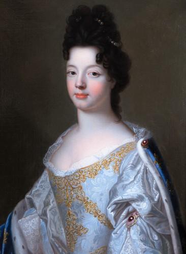 Duchess of Lorraine, workshop of François de Troy, circa 1698 - Paintings & Drawings Style Louis XIV