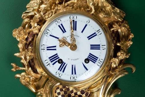 "18th century - A Louis XV ""fox hunt"" cartel clock signed Dutertre"