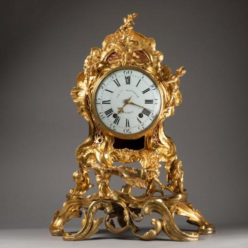 "An important Louis XV gilt bronze clock ""Commedia dell'arte""  - Horology Style Louis XV"