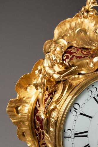 """18th century - An important Louis XV gilt bronze clock """"Commedia dell'arte"""""""
