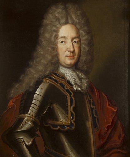 Portrait Of A Noble Man In Armor Follower Of Nicolas De