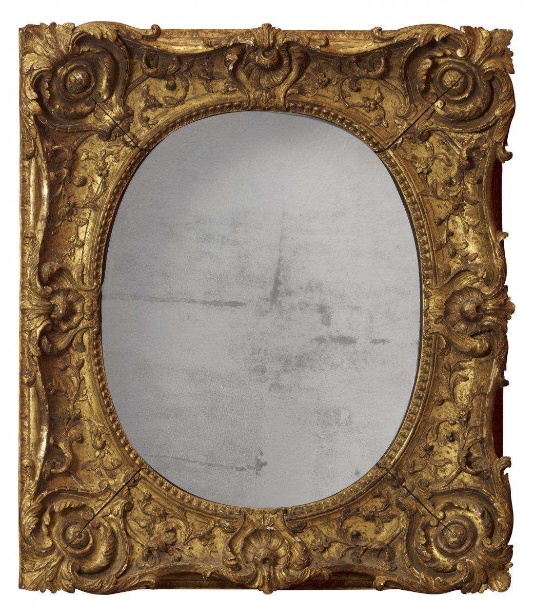 cadre mont en miroir poque louis xv xviiie si cle. Black Bedroom Furniture Sets. Home Design Ideas