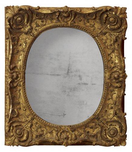 Mirrors, Trumeau  - Louis XV giltwood frame mounted as a mirror