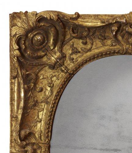 Louis XV giltwood frame mounted as a mirror -