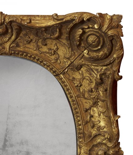 18th century - Louis XV giltwood frame mounted as a mirror