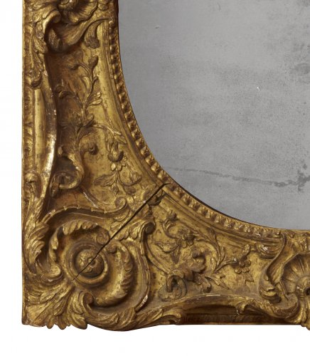 Louis XV giltwood frame mounted as a mirror - Louis XV