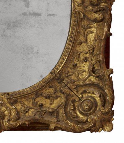 Louis XV - Louis XV giltwood frame mounted as a mirror