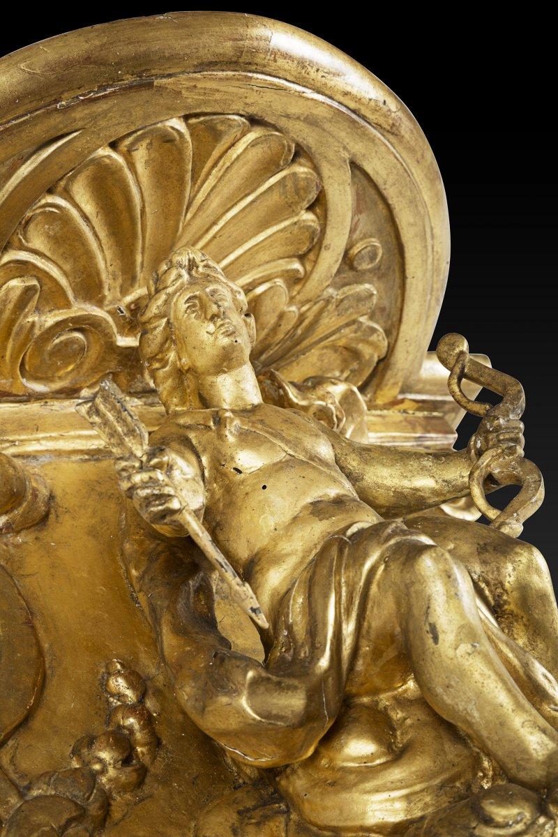 Gilded wall bracket with Apollo, Louis XIV period - Ref.60653