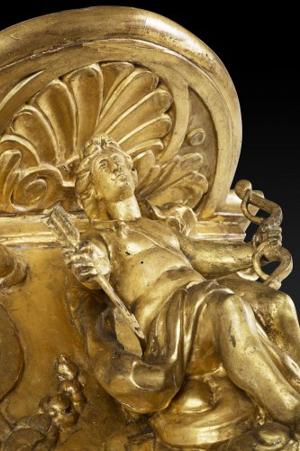 Furniture  - Gilded wall bracket with Apollo, Louis XIV period