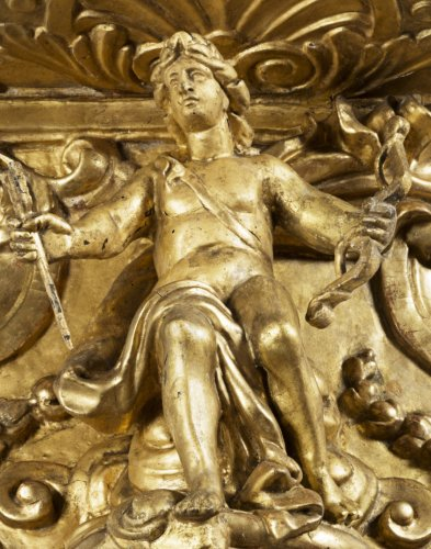 Gilded wall bracket with Apollo, Louis XIV period -